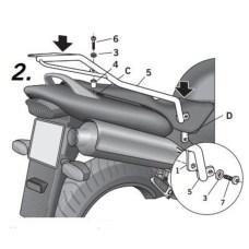 Крепление кофра SHAD Honda CB600 HORNET(03-06), задний