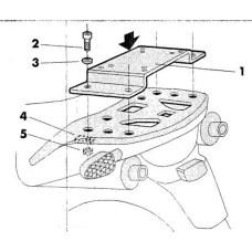Крепление кофра SHAD Honda TRANSALP XL650 V(00-07), задний