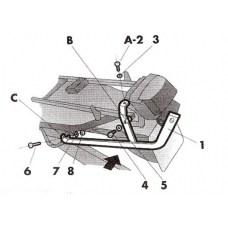 Крепление кофра SHAD Kawasaki ZZR 600 ( 91 - 92 ), задний