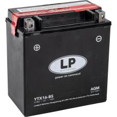 Аккумулятор Landport YTX16-BS, 12V, AGM