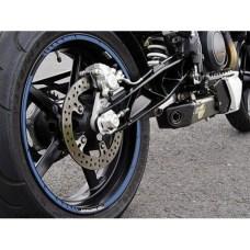 Наклейка на колесный диск GP Style (пара) синии
